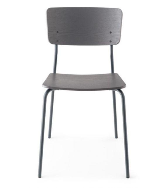 Connubia Sedia Snack CB1956 con struttura in metallo e sedile in multistrato frassino da h. 79 cm