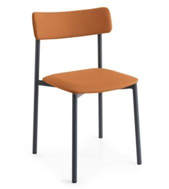 Connubia Sedia Up! CB1955 con struttura in metallo e sedile in ekos da h. 81 cm