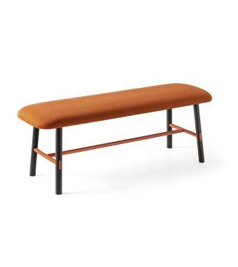 Connubia Panca Yo! CB5210 con struttura in faggio e metallo e sedile in tessuto plain da h. 48 cm
