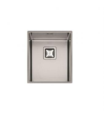 Fulgor Lavello ad una vasca sottotop P1B 3743 Q U finitura acciaio inox da 36,8x42,8cm