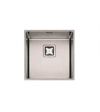 Fulgor Lavello ad una vasca sottotop P1B 4343 Q U finitura acciaio inox da 42,8x42,8cm