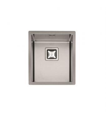 Fulgor Lavello ad una vasca semifilo/filotop P1B 3945 Q F-SF finitura acciaio inox da 39x45cm