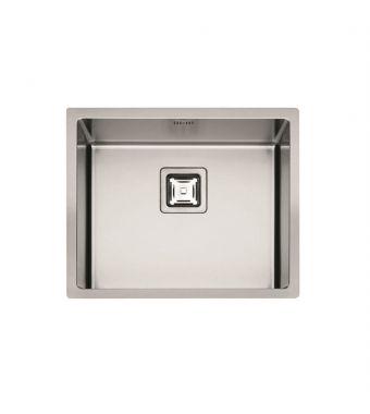 Fulgor Lavello ad una vasca semifilo/filotop P1B 5545 Q F-SF finitura acciaio inox da 55,5x45cm