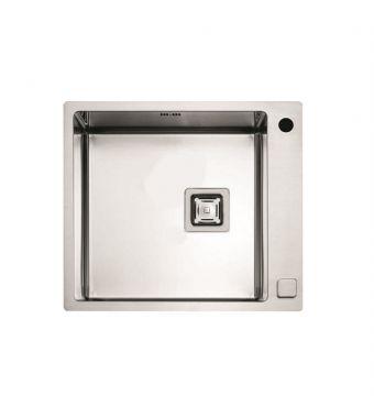 Fulgor Lavello ad una vasca semifilo/filotop P1B 5651 QA F-SF finitura acciaio inox da 56,5x51cm