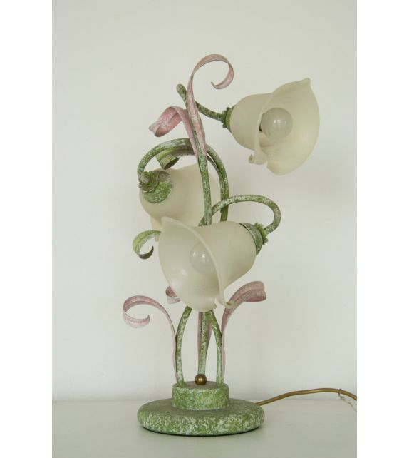 Minitallux Lampada da tavolo 3xE14 in vetro bianco