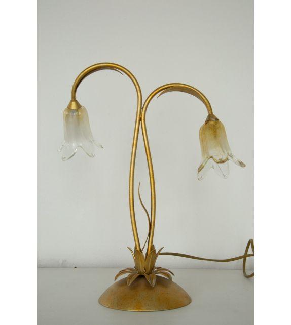 Minitallux Lampada da tavolo xE14 in vetro cristallo ambra