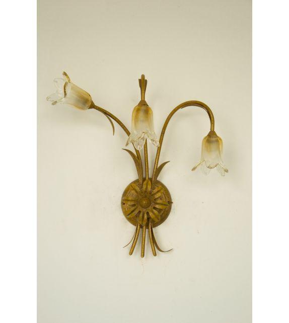 Minitallux Lampada da parete 3xG9 in vetro cristallo ambra
