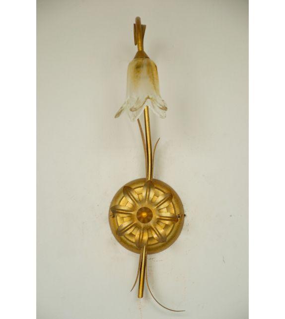 Minitallux Lampada da parete 1xg9 in vetro cristallo ambra