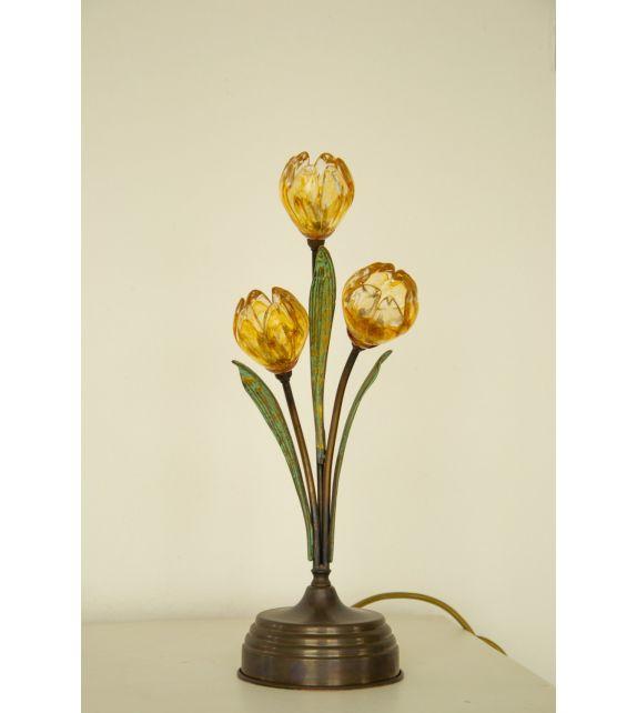 Minitallux Lumetto 3x 20w 12 v in vetro cristallo ambra by Solari