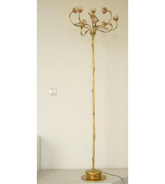 Minitallux Lampada da terra 10x20W 12 V in vetro cristallo ambra by Antealuce