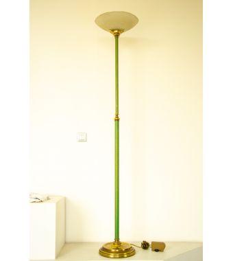 Minitallux Lampada da terra 1xE27 in vetro scavo bianco oro verde