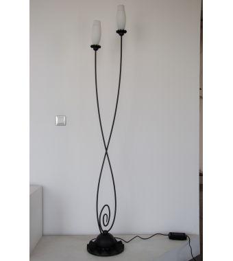 Minitallux Lampada da terra 2xE14 in ferro battuto by Florenz