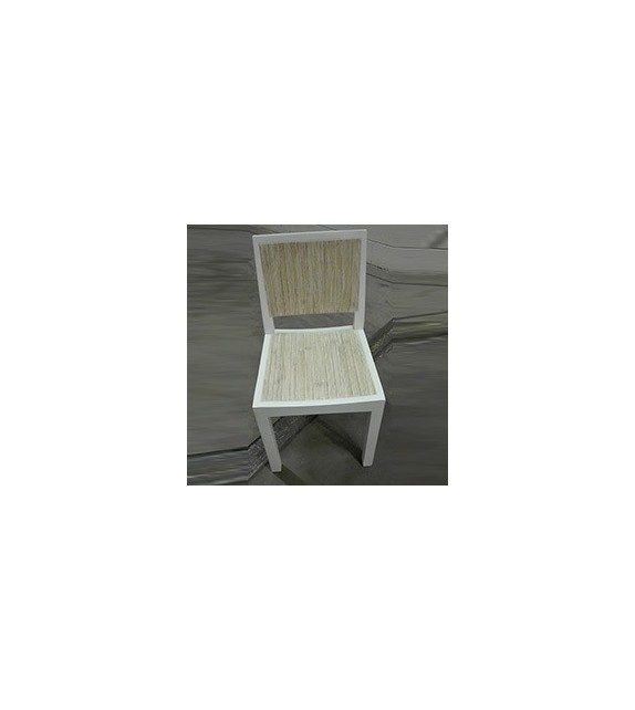 Sedia Nobu Elite in legno laccato bianco 44x50x83 cm