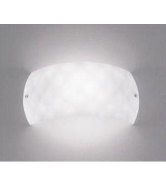 Minitallux Lampada a parete Sfera AP in vetro finitura bianco da 25x7 cm by Icone Luce