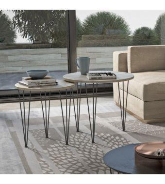 Maconi Tavolino Piramide 1067 con piano in legno da 60 cm e h. 52 cm serie Coffee Table collection