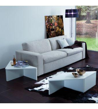 Maconi Tavolino triangolare Tetris 1156 in legno da 74 cm e h. 32 cm serie Coffee Table collection