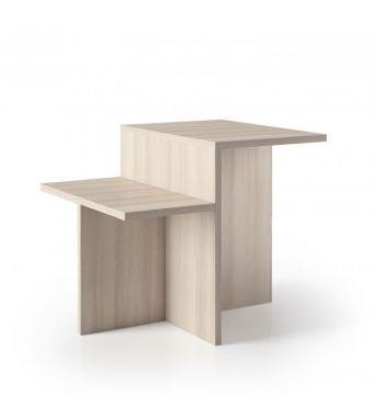 Maconi Tavolino Up and Down 1148 in legno da 60 cm e h. 50 cm serie Coffee Table collection