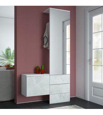 Maconi Pannello guardaroba Composizione H02 da 100 cm serie Home collection