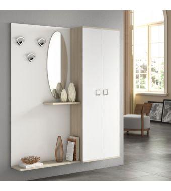 Maconi Mobile ingresso scarpiera Composizione F03 da 154 cm serie Family collection