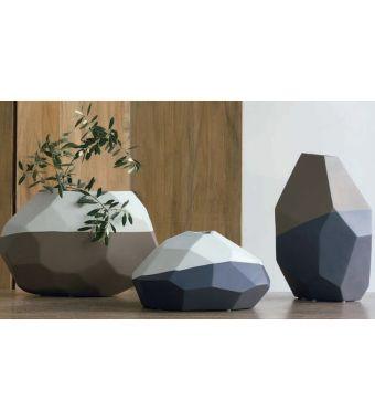 Adriani & Rossi Vaso in Ceramica Opaca bicolore Sface