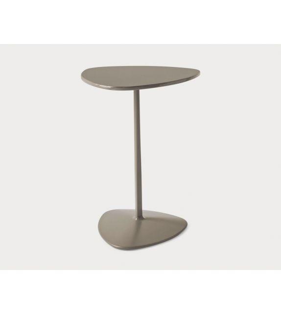 Connubia Tavolino triangolare Islands CB5061-B in metallo laccato da 40 cm e h. 55 cm