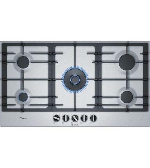 Bosch Piano cottura a gas PCR9A5B90 finitura acciaio da 90cm