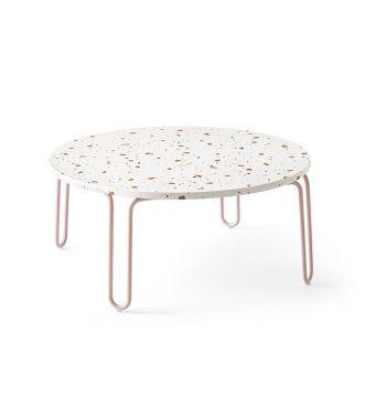 Connubia Tavolino rotondo Stulle CB5209-G con struttura in metallo e piano in nobilitato da 70 cm