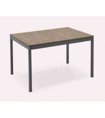 Connubia Tavolo allungabile Snap CB4085-R 110 con gambe in metallo e piano in nobilitato da 110(160)x70 cm