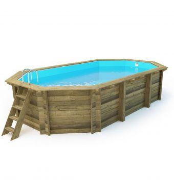 GartenPro piscina ottogonale in pino impregnato in autoclave classe 4 657x407 cm