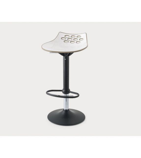 Connubia Sgabello girevole Jam CB1476 con struttura in metallo e sedile in policarbonato da h. 93 (71) cm