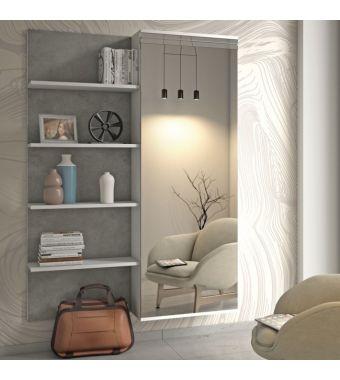 Maconi Mobile ingresso con armadio Composizione F11 da 128 cm serie Family collection