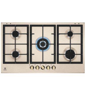 Electrolux Piano cottura a gas KGS 9536 RS finitura sabbia e manopole bronzo da 90 cm