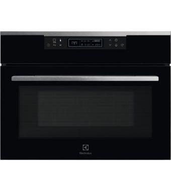 Electrolux Forno a microonde con grill KVKBE 00 X in vetro nero con finiture inox da 60 cm