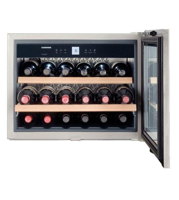 Liebherr Cantina vino sottotop da incasso WKEes 553 con porta in veto e telaio in acciaio da 56 cm