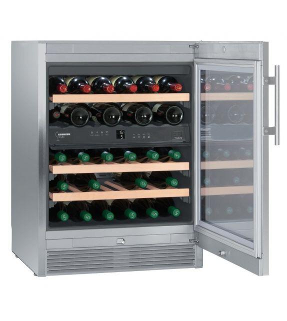 Liebherr Cantina vino sottotop WTes 1672 con porta in vetro e struttura in acciaio da 60 cm