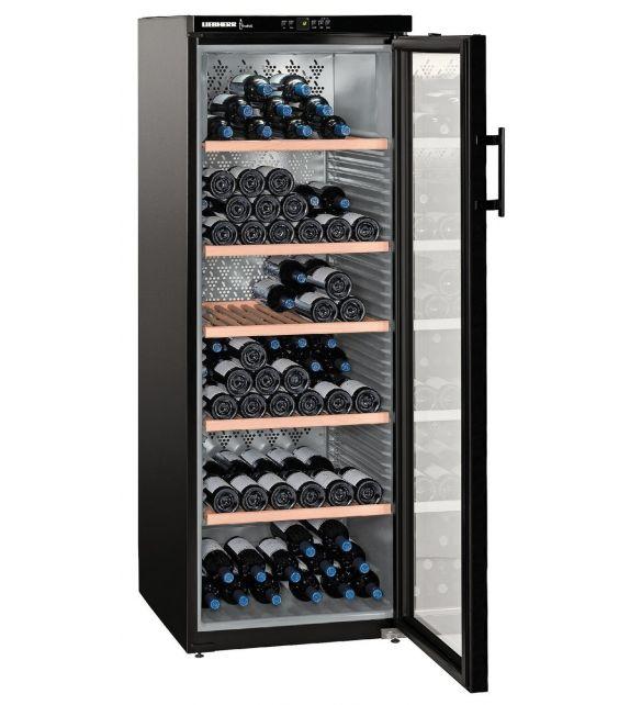 Liebherr Cantina vino WKb 4212 con porta in vetro e struttura nero da 60 cm