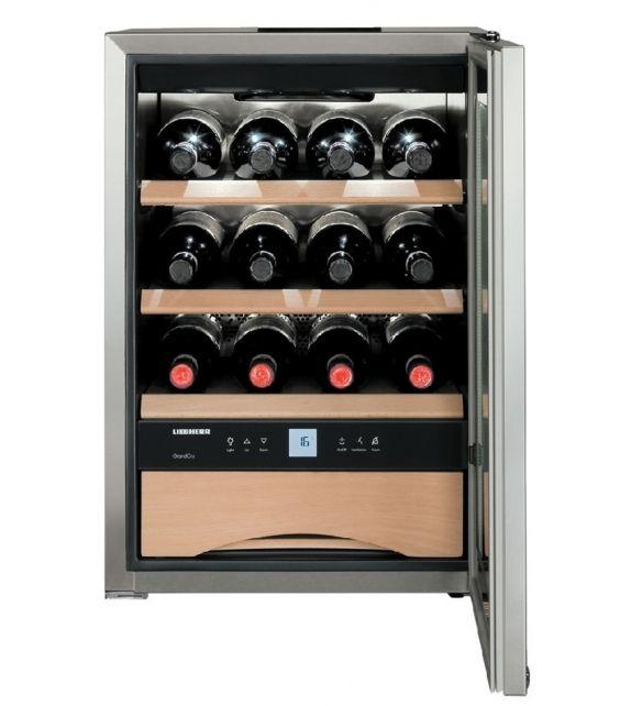 Liebherr Cantina vino sottotop WKes 653 con porta in vetro e struttura in acciaio da 43 cm