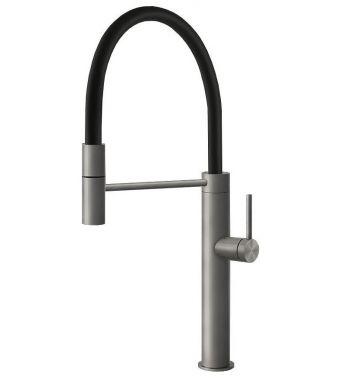 Gessi Miscelatore semi pro monocomando Kitchen 60010 239 finitura Steel Brushed