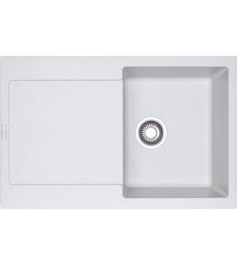 Franke Lavello una vasca con gocciolatoio Maris MRG 611 114.0153.909 finitura fragranite bianco da 78x50 cm