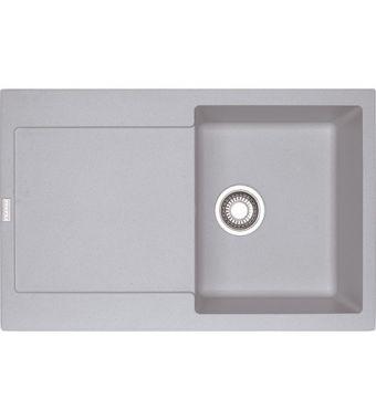 Franke Lavello una vasca con gocciolatoio Maris MRG 611 114.0150.183 finitura fragranite alluminio da 78x50 cm