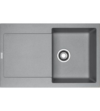 Franke Lavello una vasca con gocciolatoio Maris MRG 611 114.0066.566 finitura fragranite stone grey da 78x50 cm