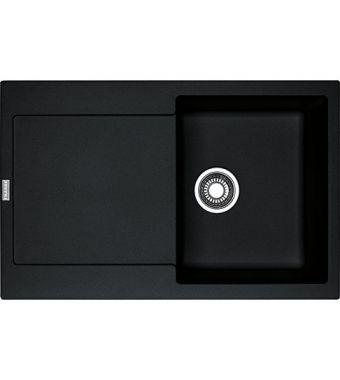 Franke Lavello una vasca con gocciolatoio Maris MRG 611 114.0157.493 finitura fragranite nero da 78x50 cm