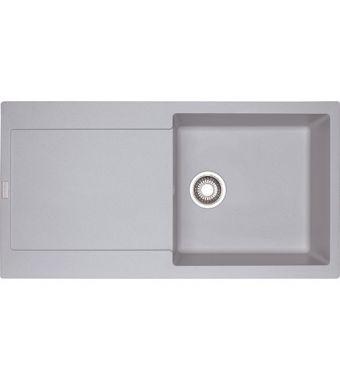 Franke Lavello una vasca con gocciolatoio Maris MRG 611-L 114.0158.781 finitura fragranite alluminio da 97x50 cm