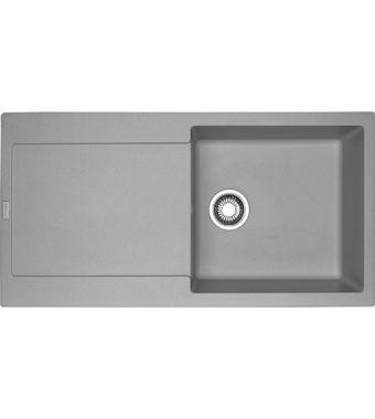 Franke Lavello una vasca con gocciolatoio Maris MRG 611-L 114.0066.570 finitura fragranite stone grey da 97x50 cm