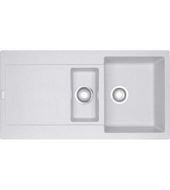 Franke Lavello una vasca con vaschetta e gocciolatoio Maris MRG 651 114.0153.911 finitura fragranite bianco da 97x50 cm