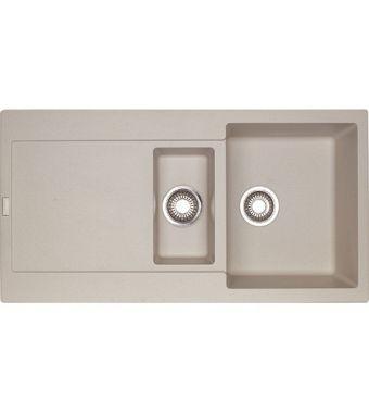 Franke Lavello una vasca con vaschetta e gocciolatoio Maris MRG 651 114.0066.684 finitura fragranite sahara da 97x50 cm