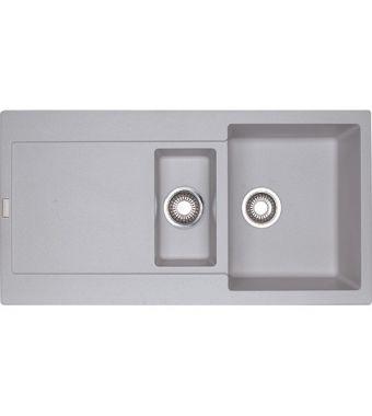 Franke Lavello una vasca con vaschetta e gocciolatoio Maris MRG 651 114.0150.193 finitura fragranite alluminio da 97x50 cm