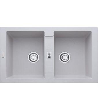 Franke Lavello due vasche Maris MRG 620 114.0150.726 finitura fragranite alluminio da 86x50 cm