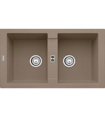 Franke Lavello due vasche Maris MRG 620 114.0490.340 finitura fragranite oyster da 86x50 cm