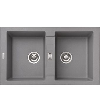 Franke Lavello due vasche Maris MRG 620 114.0066.694 finitura fragranite stone grey da 86x50 cm